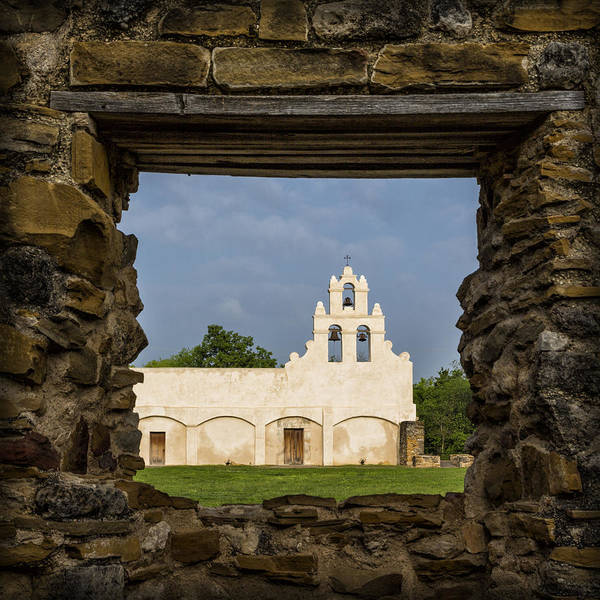 San-antonio Photograph - Mission View by Stephen Stookey