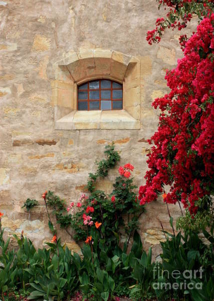 Carmel Mission Photograph - Mission Window by Carol Groenen