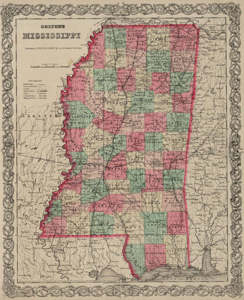 Wall Art - Drawing - Mississippi by Colton