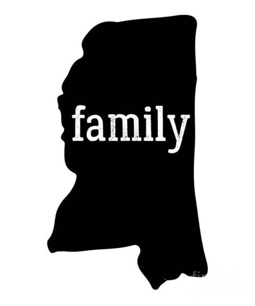Olive Branch Digital Art - Mississippi Cool Gift Family State Shirt Dark by J P
