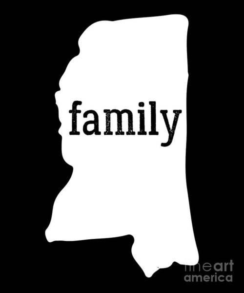 Olive Branch Digital Art - Mississippi Cool Gift Family State Shirt Light by J P