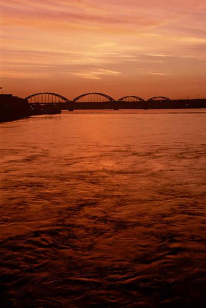 Centennial Bridge Photograph - Mississippi Dusk by Heidi Brandt