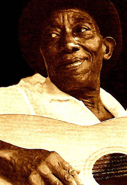 Blues Painting - Mississippi John Hurt by Jeff DOttavio