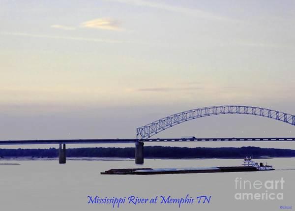 Photograph - Mississippi River At Memphis Tn by Lizi Beard-Ward