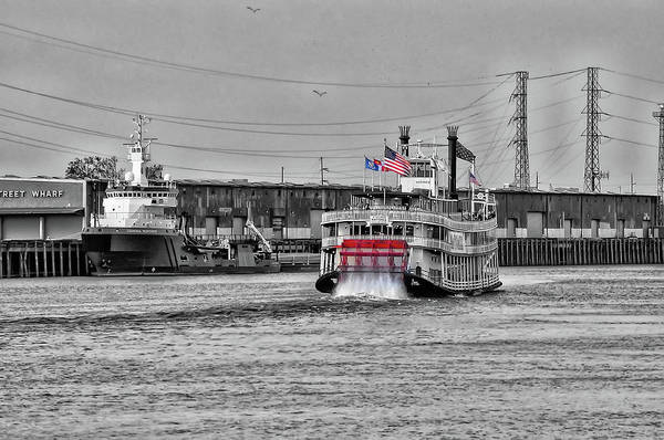 Wall Art - Photograph - Mississippi River Boat - New Orleans  by Bill Cannon