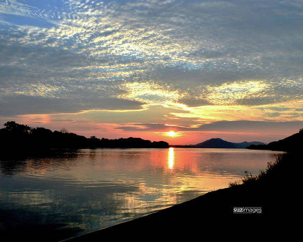 Photograph - Mississippi River Sunrise by Susie Loechler