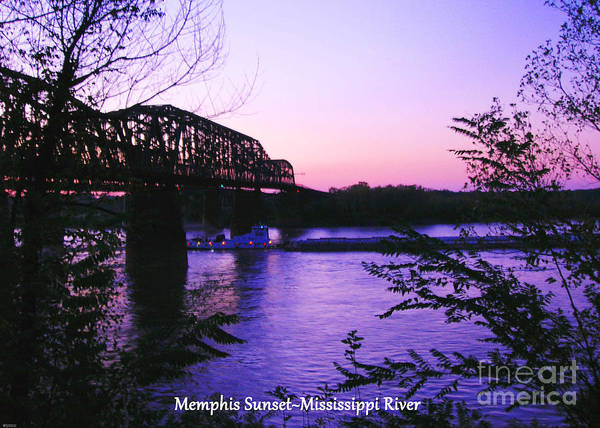Photograph - Mississippi River Sunset At Memphis by Lizi Beard-Ward