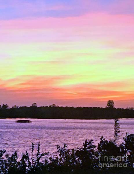 Photograph - Mississippi River Sunset by Marcia Breznay