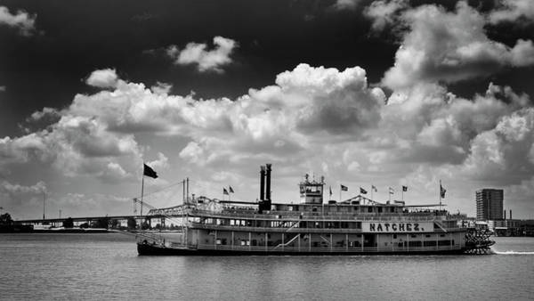 Wall Art - Photograph - Mississippi Riverboat In Black And White by Greg and Chrystal Mimbs