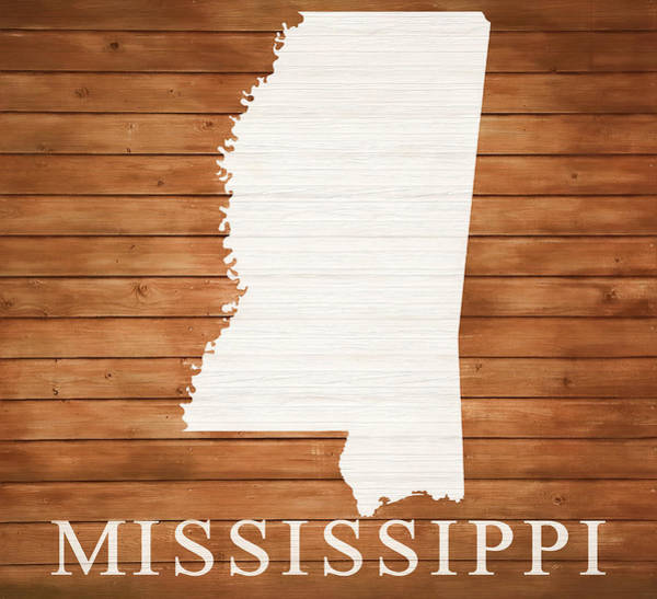 Traveler Mixed Media - Mississippi Rustic Map On Wood by Dan Sproul