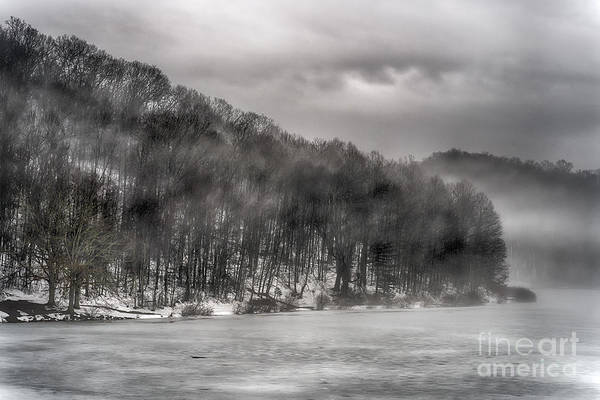 Photograph - Mist And Ice On Lake by Thomas R Fletcher