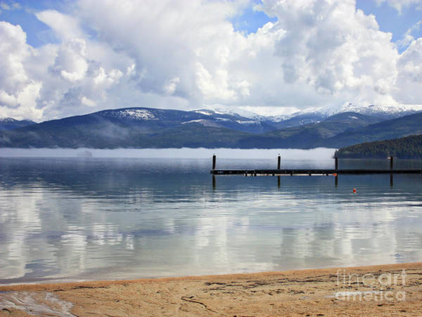 Priest Lake Photograph - Mist And Mountains Reflecting On Lake by Carol Groenen
