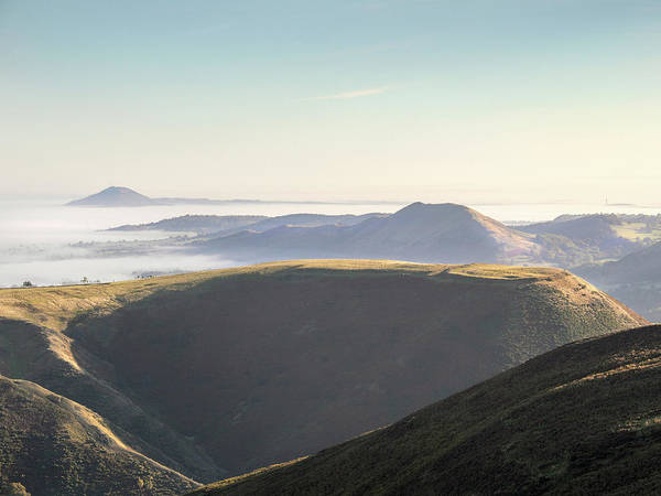 Church Stretton Photograph - Mist Below The Shropshire Hills by Richard Greswell