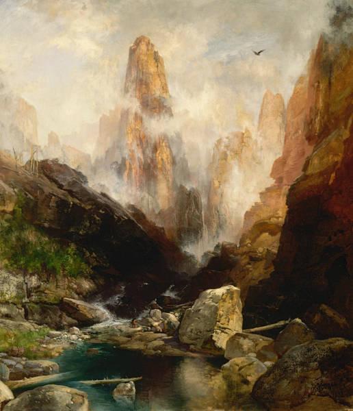 Moran Painting - Mist In Kanab Canyon Utah by Thomas Moran