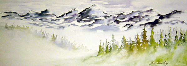 Painting - Mist In The Mountains by Joanne Smoley