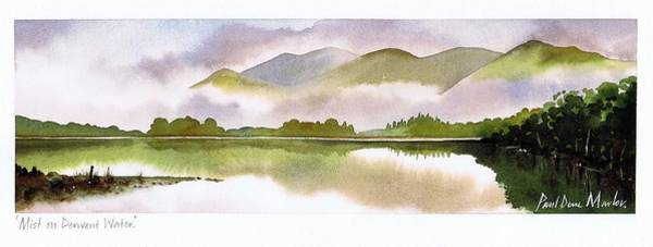 Wall Art - Painting - Mist On Derwent Water by Paul Dene Marlor