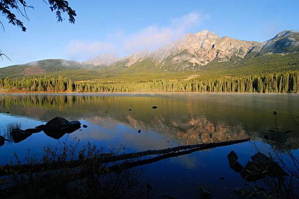 Photograph - Mist On Pyramid Mountain by Larry Ricker