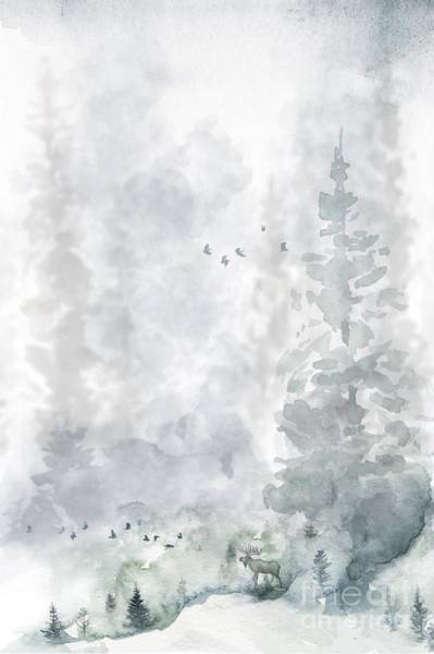 Hiking Digital Art - Mist On The Mountain  by John Edwards