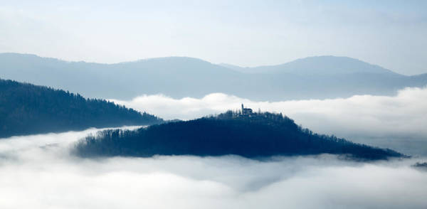 Wall Art - Photograph - Mist Over Church Of Maria by Ian Middleton