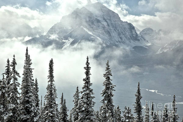 Photograph - Mist Over The Rocky Mountains by Adam Jewell
