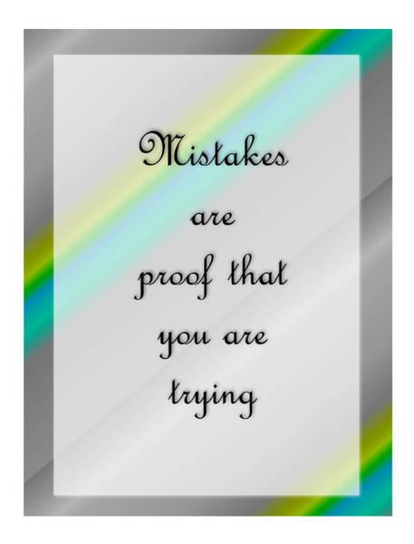 Digital Art - Mistakes 2... by Carol Crisafi