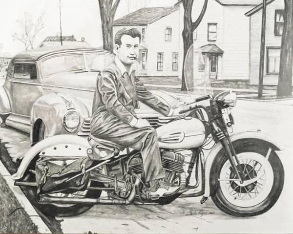 Wall Art - Drawing - Mister Cool by Charles Rogers