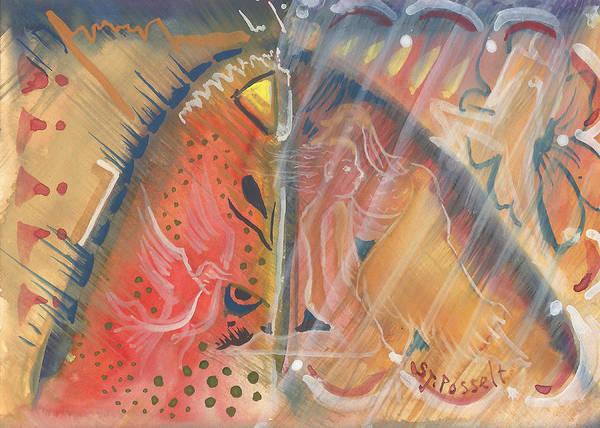 Mistic Cave Art Print