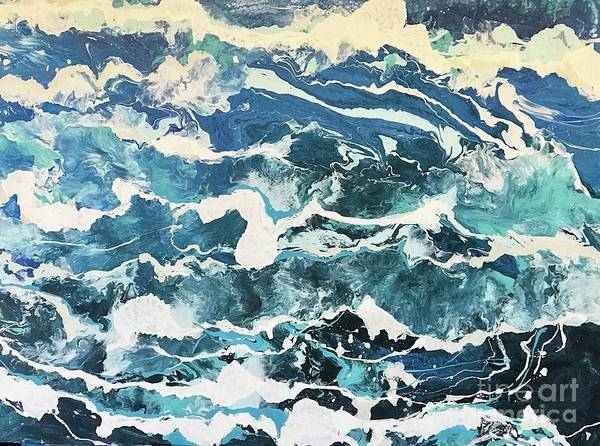 Painting - Mistical Waves by Sherry Harradence