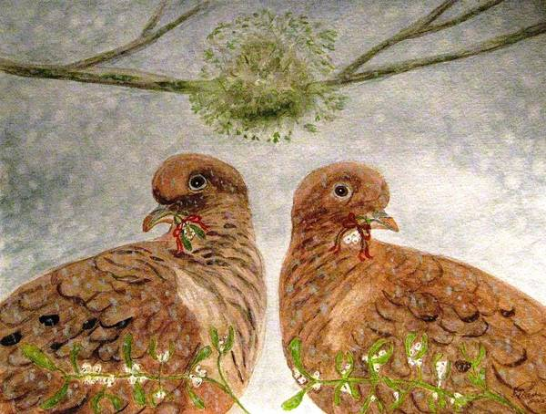 Mistletoe Magic Art Print