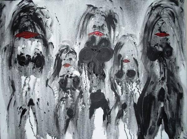 Exploring Mixed Media - Mistresses 1 by Feri Karimi-Busheri