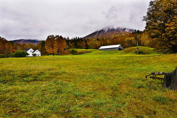 Photograph - Misty Autumn At The Farm by Rockybranch Dreams