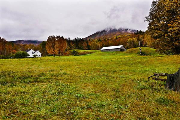 Misty Autumn At The Farm Art Print