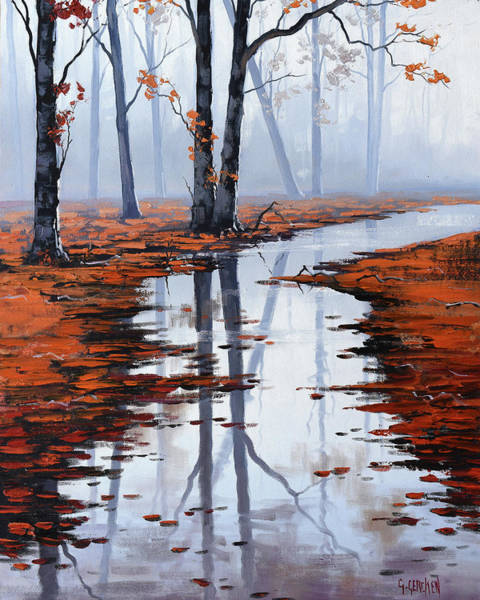 Wall Art - Painting - Misty Autumn Colors by Graham Gercken