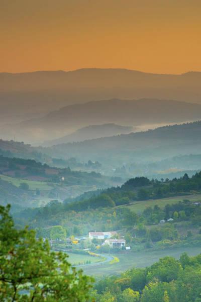 Photograph - Misty Autumn Dawn 2, Brenac, France  by Jean Gill