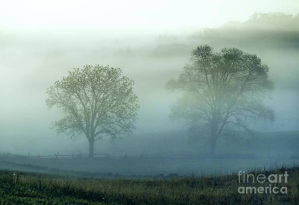 Wall Art - Photograph - Misty Battlefield Gettysburg by John Greim