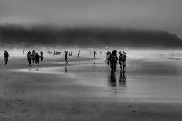 Photograph - Misty Beach by David Patterson