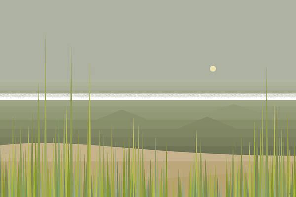 Digital Art - Misty Beach by Val Arie