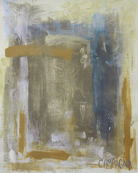 Painting - Misty Blue      by Teddy Campagna