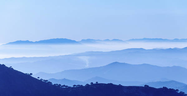 Photograph - Misty Blue Mountain Panorama by Geoff Smith