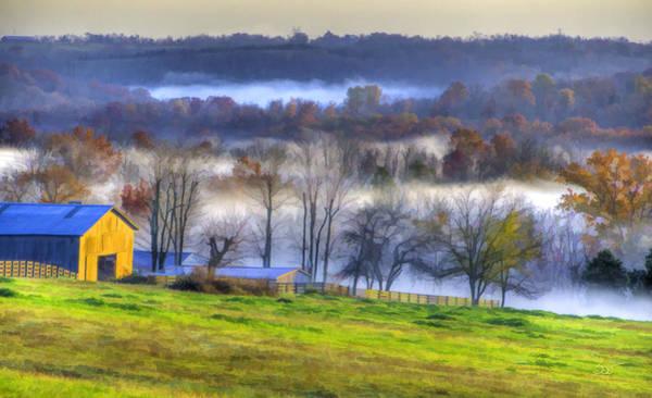 Photograph - Misty Bluegrass Morning 2 by Sam Davis Johnson