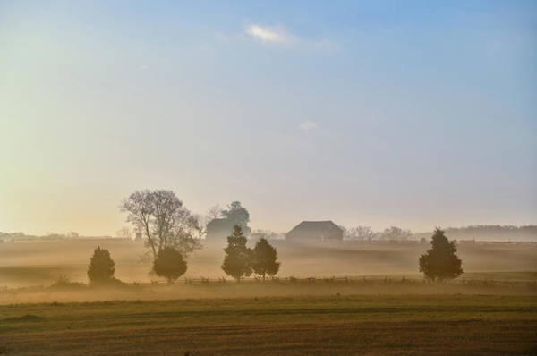 Photograph - Misty Dawn At Gettysburg by Bill Cannon