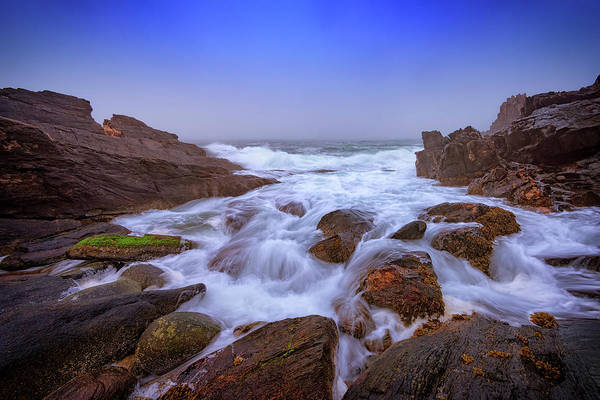 Casco Bay Photograph - Misty Dawn At Giant's Stairs by Rick Berk