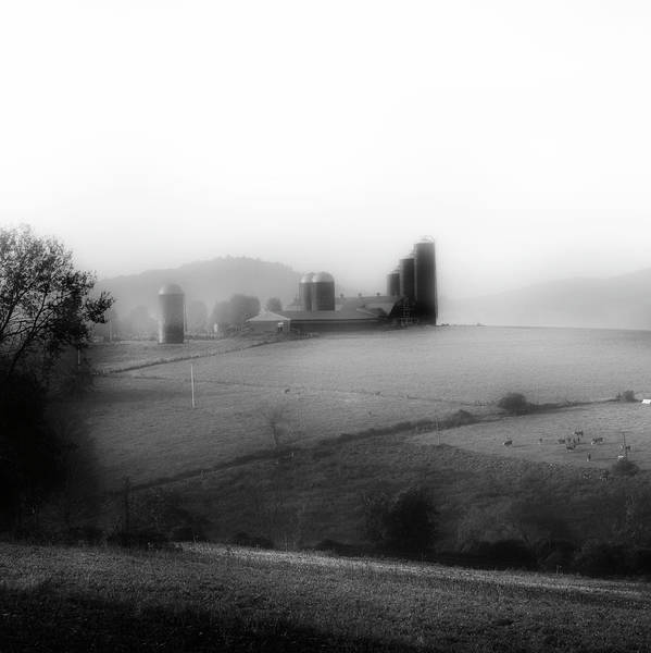 Wall Art - Photograph - Misty Farm Square by Bill Wakeley