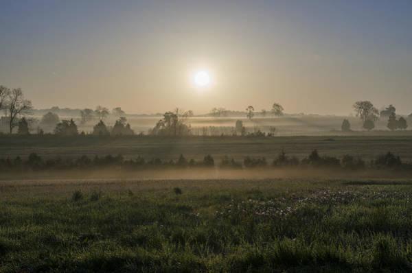 Photograph - Misty Fields Of Gettysburg Pa by Bill Cannon