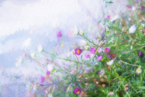 Wall Art - Digital Art - Misty Floral Spray by Terry Davis