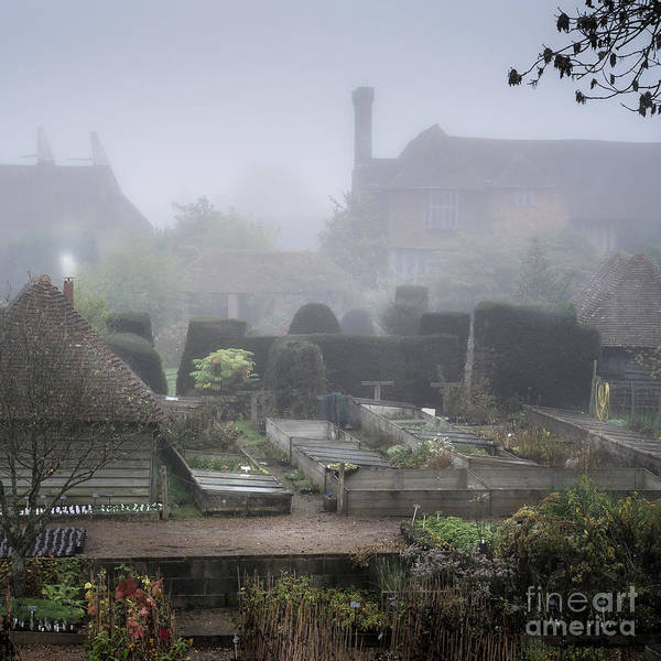 Photograph -  Misty Garden, Great Dixter by Perry Rodriguez