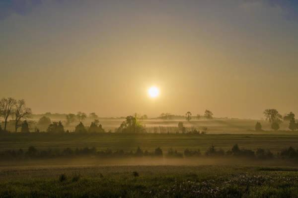 Photograph - Misty Gettysburg Sunrise by Bill Cannon