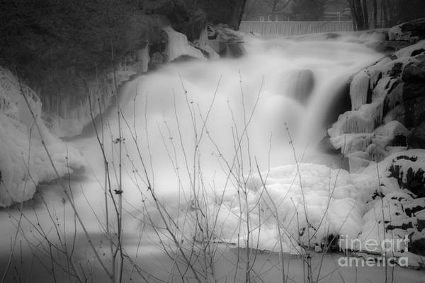 Photograph - Misty Icy Waterfall by Jim DeLillo