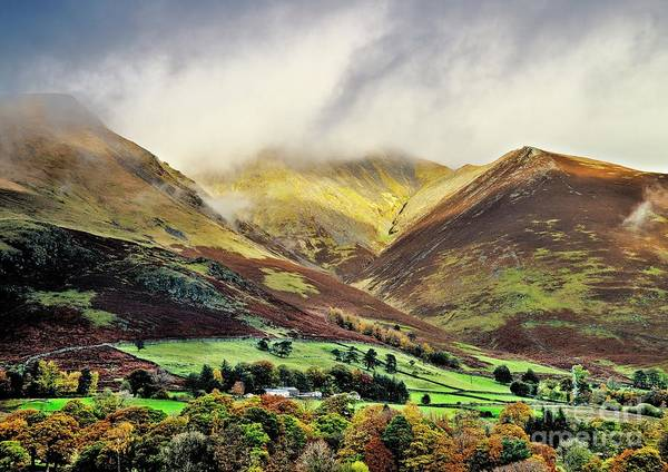 Photograph - Misty Lake District Mountains by Martyn Arnold