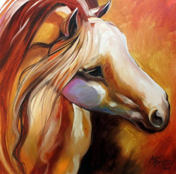 Painting - Misty Moonlight Equine by Marcia Baldwin